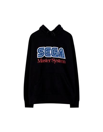 Sega-sweatshirt med hætte og logo