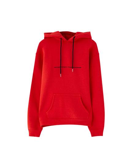 Basic hoodie with print