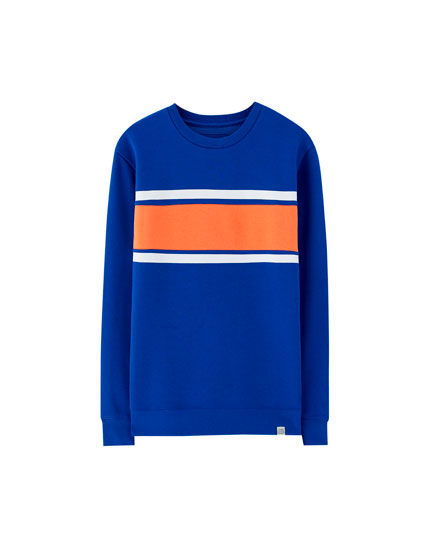 Fabric panel sweatshirt