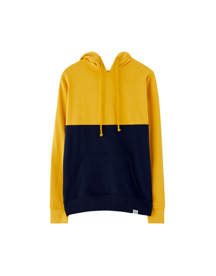 French plush two-panel sweatshirt