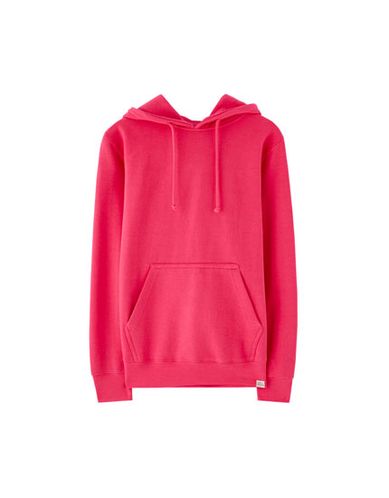 Thick hoodie with pouch pocket