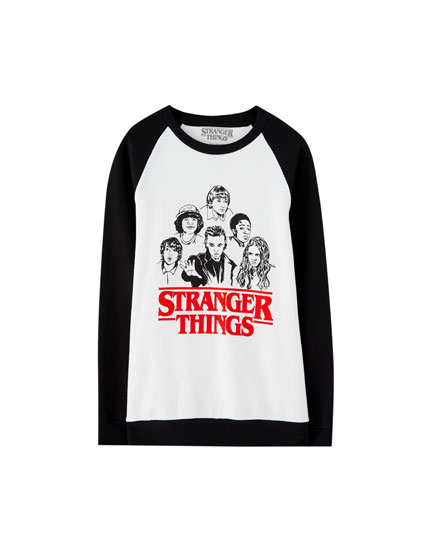 Netflix Stranger Things sweatshirt with raglan sleeves