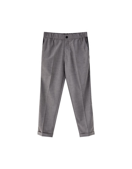 Tailored jogging trousers with side stripes