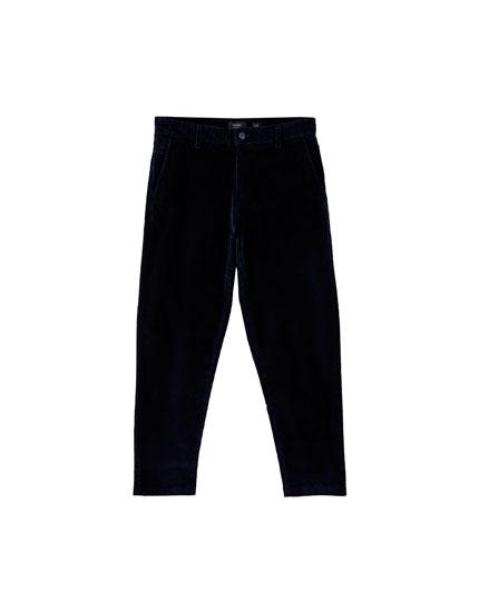 Pantalon chino velours côtelé
