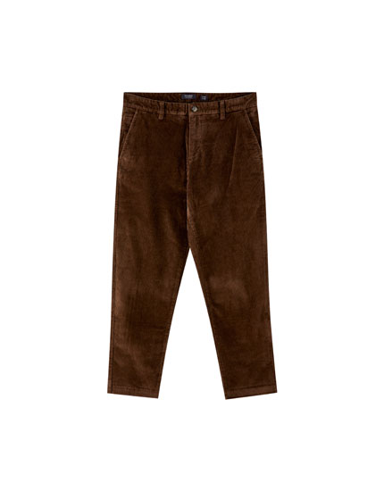 Chino-style corduroy trousers