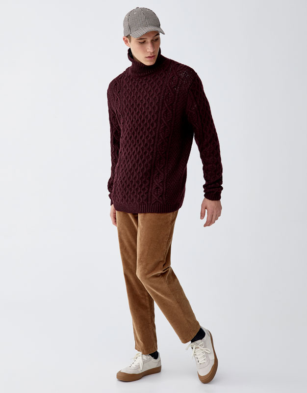 Tailored Corduroy Trousers by Pull & Bear