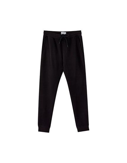Piqué jogging trousers