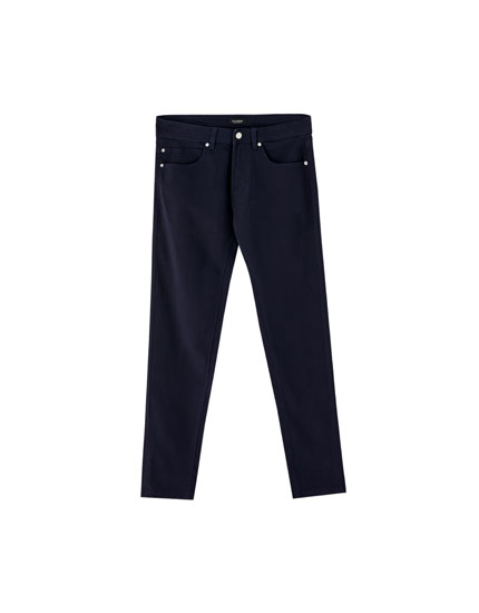 Coloured slim fit 5-pocket trousers