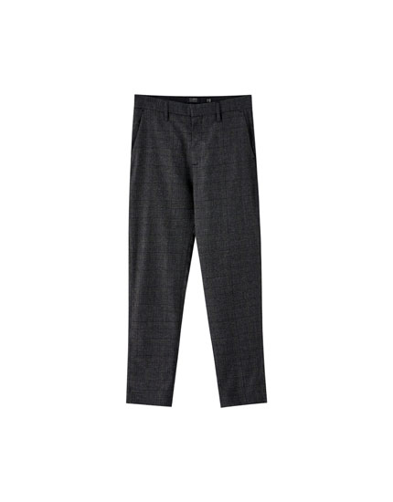 Pantalon chino tailoring à carreaux