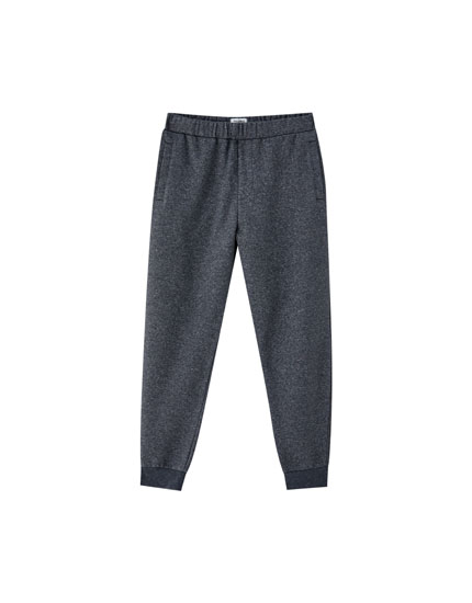 Brushed jogging trousers