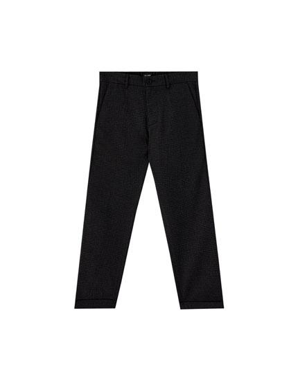 Pantalón chino cuadros vichy