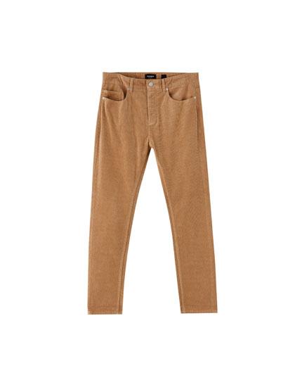 Pantalon 5poches velours côtelé
