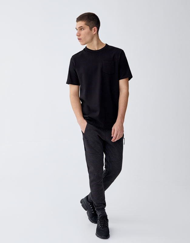 Drawstring Ottoman Jogging Trousers by Pull & Bear