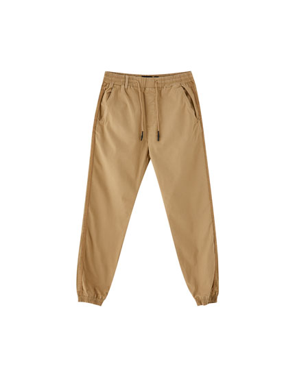 Cuffed jogging trousers