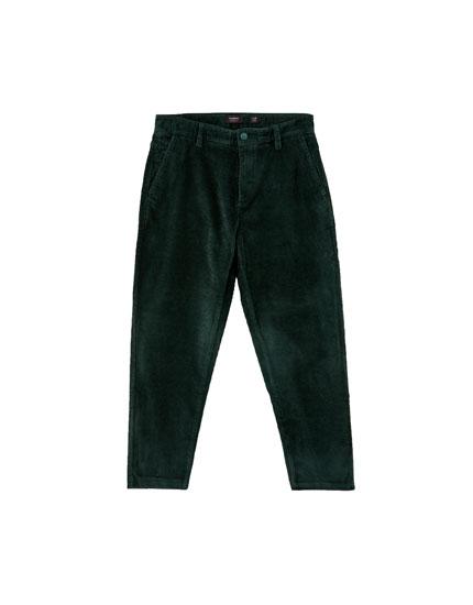 Corduroy chino trousers