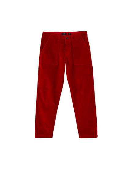 Corduroy worker trousers