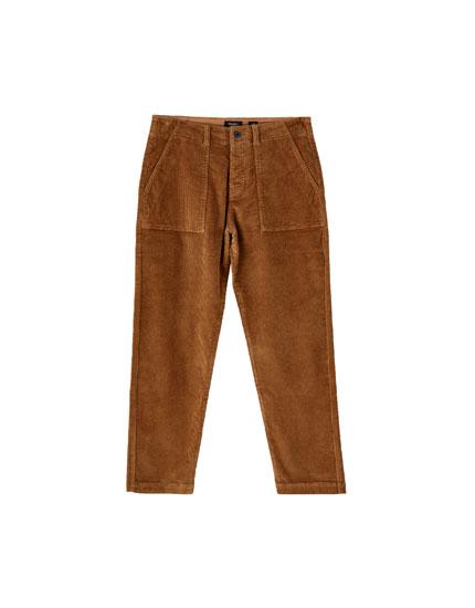 Pantalon velours côtelé workwear