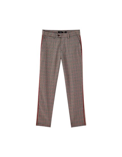 Tailored houndstooth trousers