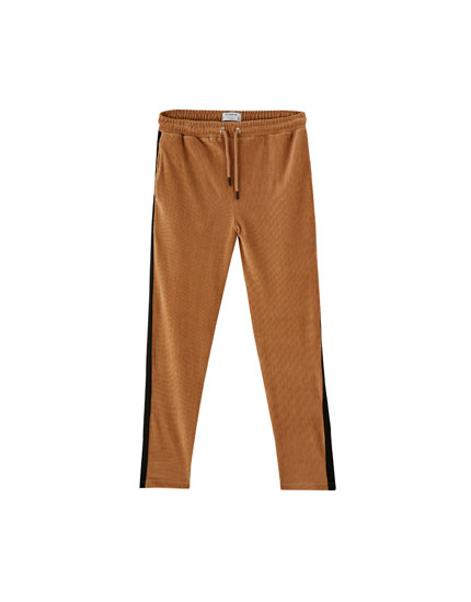 Corduroy jogging trousers