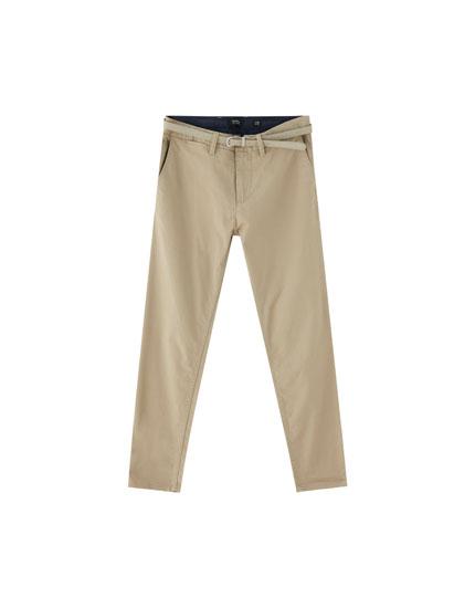 Pantalon chino skinny fit