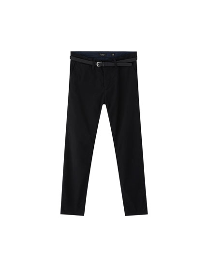 Skinny fit chino broek