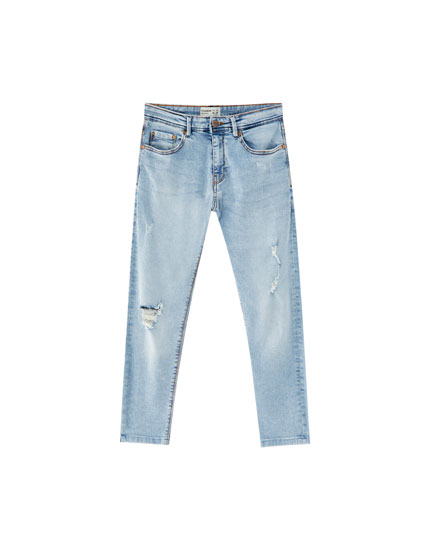 Jeans super skinny fit cropped rotos