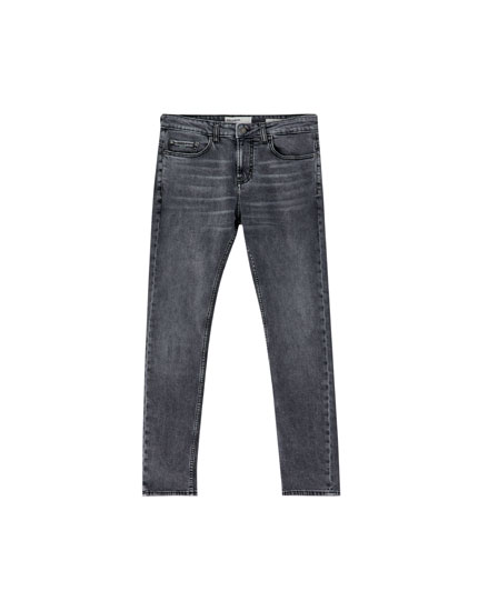 Washed grey slim fit comfort jeans