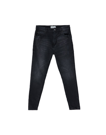 Zwarte jeans carrot fit