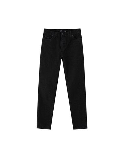 Jeans med buksebenskanter med ombuk