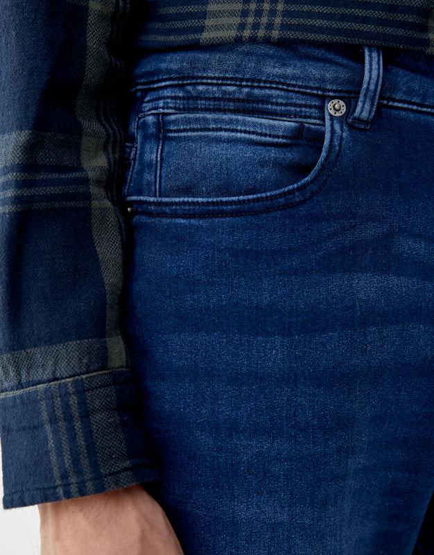 Fit Pull Jean Comfort amp;bear Slim Moyen Bleu 8qx6E4xp