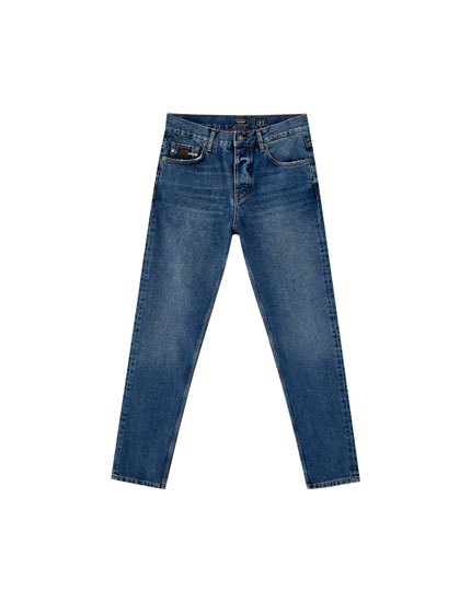 Marineblaue Jeans im Slim-Fit
