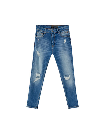 Ripped premium carrot fit jeans