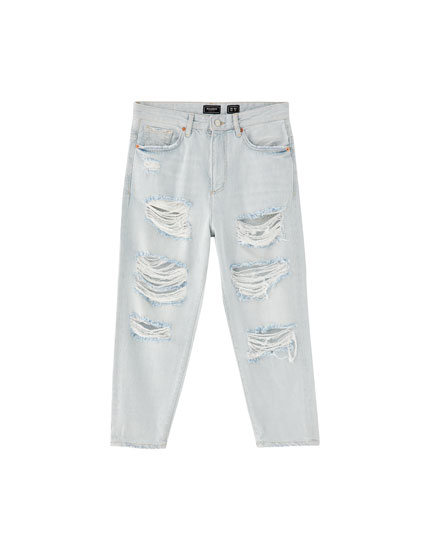 Jeans loose fit rotos