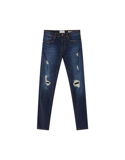 Jean skinny premium déchiré