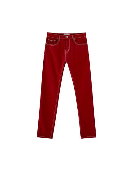 Coloured comfort fit jeans