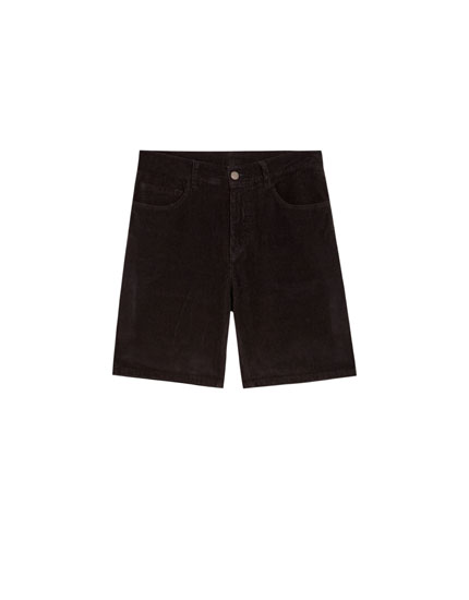 Five-Pockets Bermudashorts aus Cord