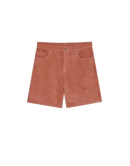 5-pocket corduroy Bermuda shorts