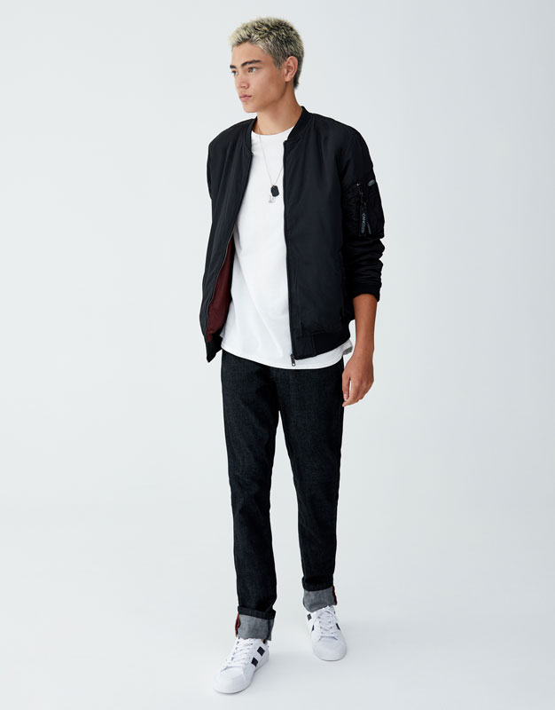 Chaqueta bomber pull and bear hombre