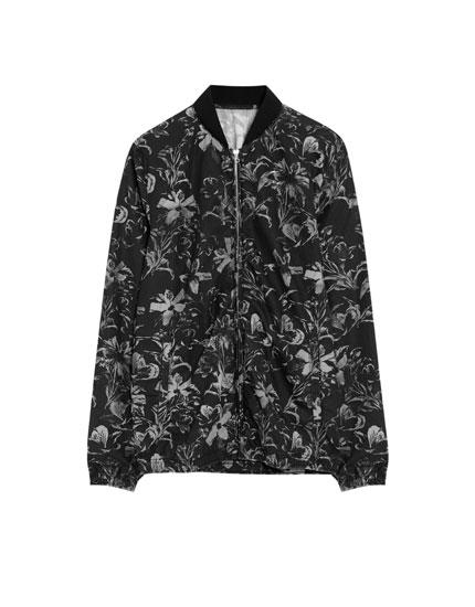Poplin bomber jacket