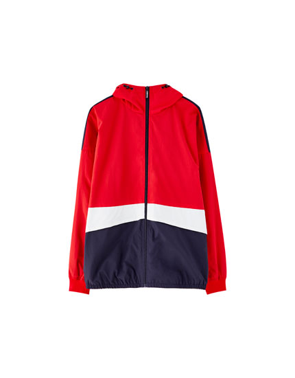 Blouson nylon color block