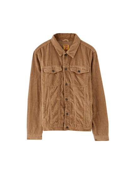Light corduroy trucker jacket