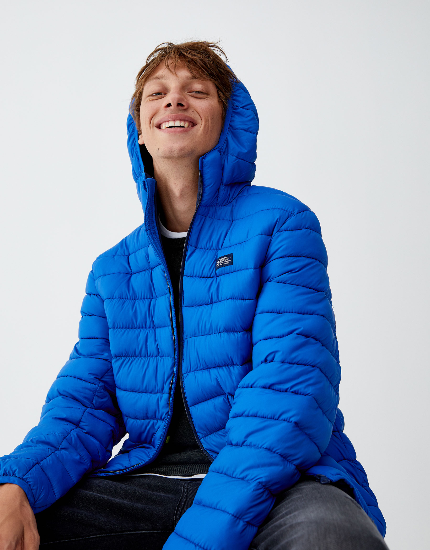 a3313223c1d4d Pull & Bear Lightweight puffer jacket with hood at £29.99 | love the ...
