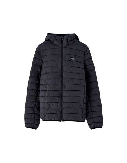Lightweight puffer jacket with hood