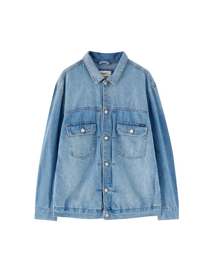 Light blue vintage denim jacket