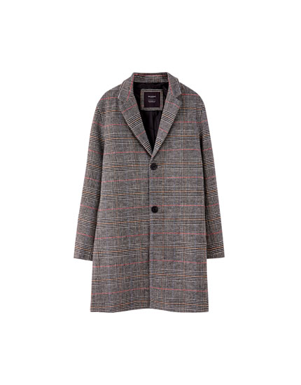 Checked woolly coat
