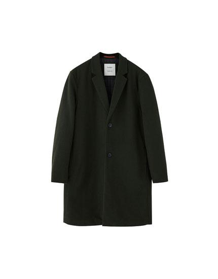 Manteau basic en drap de laine