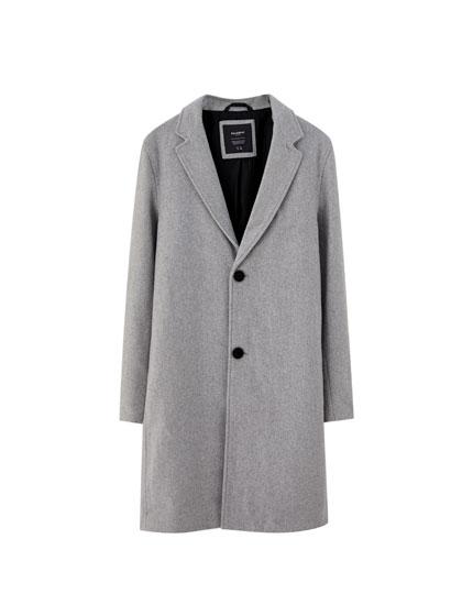 Palton clasic gri