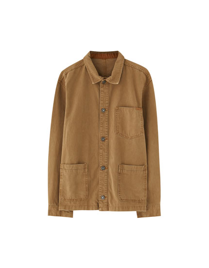 Taupe worker jacket