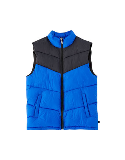 Panelled puffer gilet