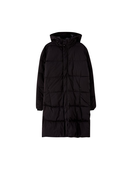 Duck down cocoon coat